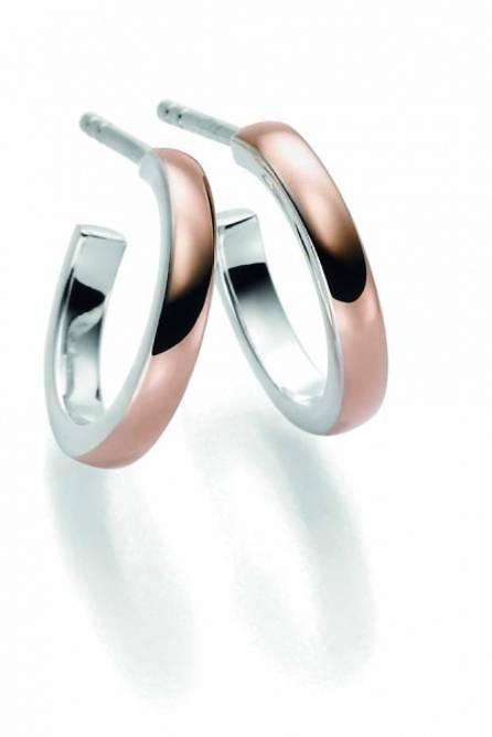 Bilde av New York øreringer, 20mm rosé