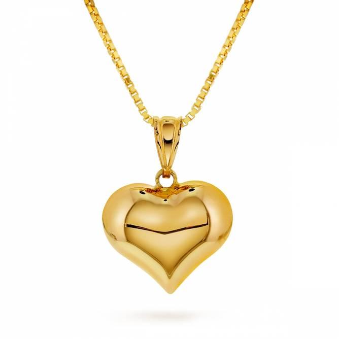 Bilde av Gull anheng, hjerte