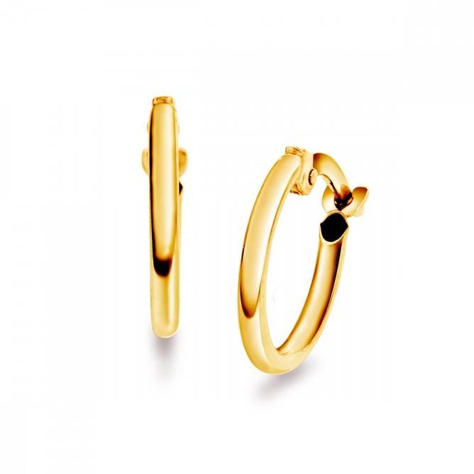 Bilde av Gull øreringer 10 mm