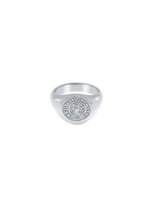 Bilde av Lykkemynt ring, Sølv